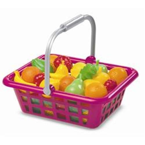 Ecoiffier Cos Mare de Cumparaturi cu Fructe