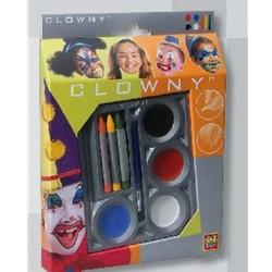 Creioane si acuarele colorate Clowny pentru fata