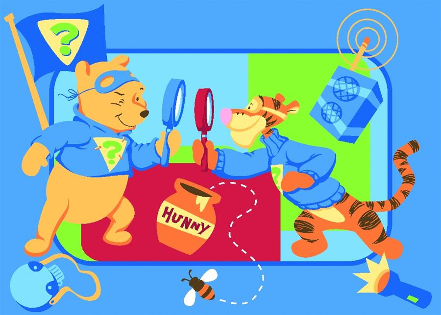 Covoras copii Winnie albastru