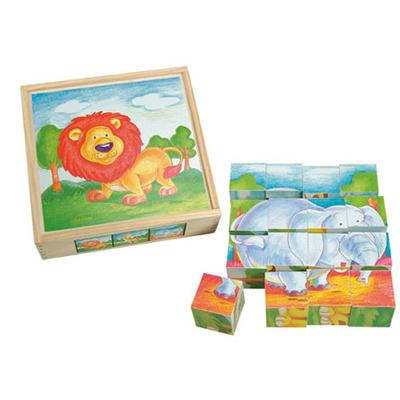 """Cuburi puzzle """"Regele animalelor"""""""