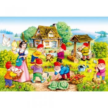 Puzzle Alba ca Zapada si cei 7 pitici (120 piese)