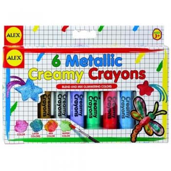 Set 6 creioane moi in culori metalice