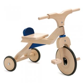 Tricicleta din lemn Jasper (albastra)