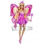 Papusa zana fluture in rochita roz