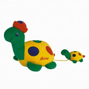 Broasca Testoasa cu Pui de jucarie pentru bebelusi si copii mici