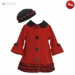 palton rosu fetite