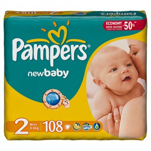 Scutece Pampers New Baby 2 Mini Giant Pack 108 buc