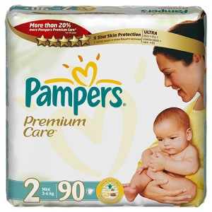 Scutece Pampers Premium Care 2 Mini Jumbo Pack 90 buc