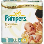 Scutece Pampers Premium Care Nou Nascuti Value Pack 78 buc