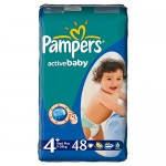 Scutece Pampers Activ Baby 4 Maxi Plus VP 48 buc