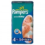 Scutece Pampers Activ Baby 4 Maxi Value Pack 54 buc