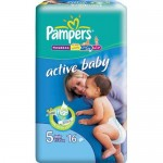 Scutece Pampers Activ Baby 5 Junior 16 buc