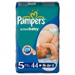 Scutece Pampers Activ Baby 5 Junior Value Pack 44 buc