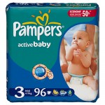 Scutece Pampers Active Baby 3 Midi Giant Pack 96 buc