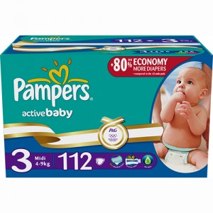 Scutece Pampers Active Baby 3 Midi Giant Pack Plus 112 buc