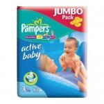 Scutece Pampers Active Baby 3 Midi Jumbo Pack 82 buc