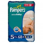 Scutece Pampers Active Baby 5 Junior Giant Pack 68 buc