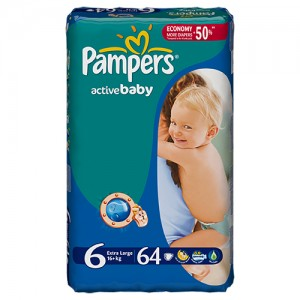 Scutece Pampers Active Baby 6 ExtraLarge Giant Pack 64 buc