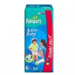 Scutece Pampers Active Baby 6 Jumbo Pack 54 buc