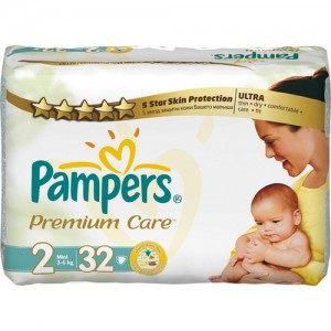 Scutece Pampers Premium Care 2 Mini 32 bucati