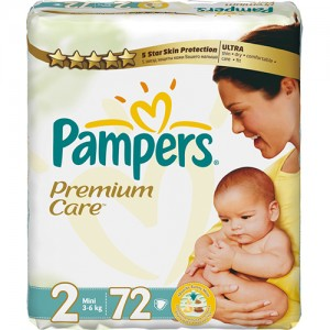 Scutece Pampers Premium Care 2 Mini Value Pack 72 buc