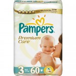 Scutece Pampers Premium Care 3 Midi Value Pack 60 buc