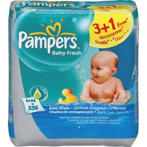 Servetele umede Pampers 3+1 Baby Fresh
