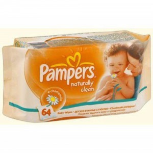 Servetele umede Pampers Naturally Clean Single 64 buc