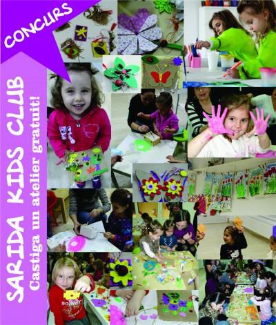 Concurs: Castiga un atelier de creatie de la Sarida Kids Club!