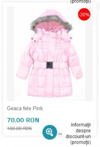 Geaca iarna fete ieftina si frumoasa