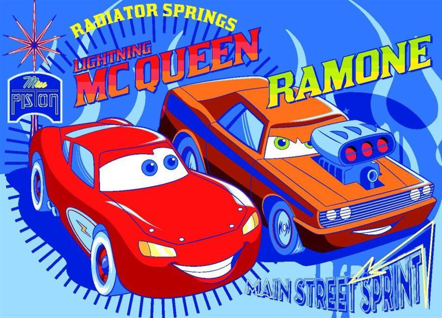 Covoras copii Cars McQueen&Ramone