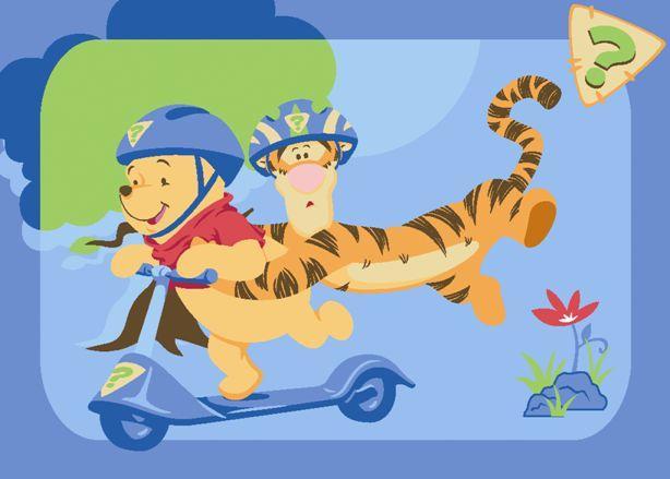 Covoras copii Winnie pe tricicleta