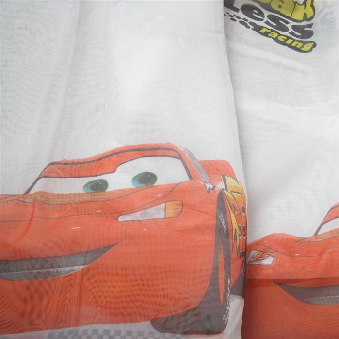 Perdea Cars din voal alb