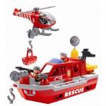 Set Barca de Salvare cu Elicopter