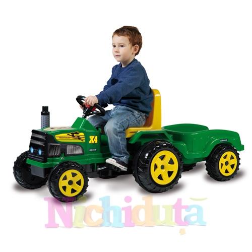 Tractor cu pedale si remorca Farmer