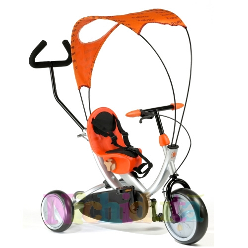 Tricicleta OKO Orange cu parasolar