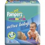 Scutece Active Baby 3 Midi 22 buc