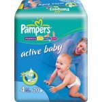 Scutece Pampers Activ Baby 4 Maxi 20 buc