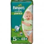 Scutece Pampers Activ Boy 5 Junior Jumbo Pack 48 buc, pentru baieti