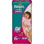 Scutece Pampers Activ Girl 6 extra large Jumbo Pack 44 buc, pentru fete