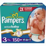 Scutece Pampers Active Baby 3 Midi Mega Pack 150 buc