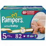 Scutece Pampers Active Baby 5 Junior Giant Pack Plus 82 buc