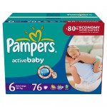 Scutece Pampers Active Baby 6 ExtraLarge Giant Pack Plus 76 buc