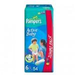 Scutece Pampers Active Baby 6 Jumbo Pack 54 buc