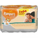 Servetele umede Pampers Naturally Clean Duo