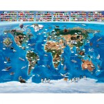 Tapet copii Harta Lumii