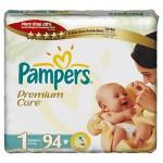 Scutece Pampers Premium Care Nou Nascut Jumbo Pack 94 buc