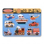 Puzzle de lemn cu sunete - Vehicule