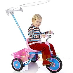 Tricicleta Outside Passenger roz cu parasolar